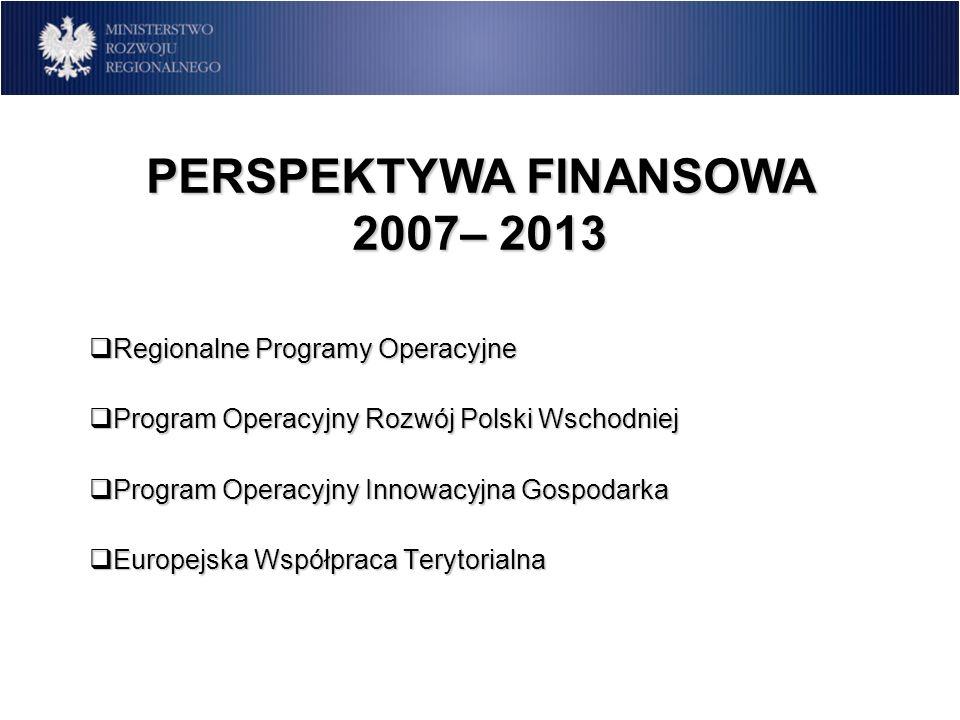 PERSPEKTYWA FINANSOWA 2007– 2013