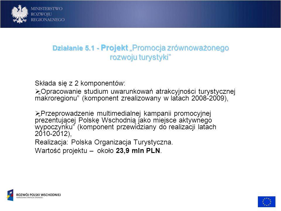 """Działanie 5.1 - Projekt """"Promocja zrównoważonego rozwoju turystyki"""