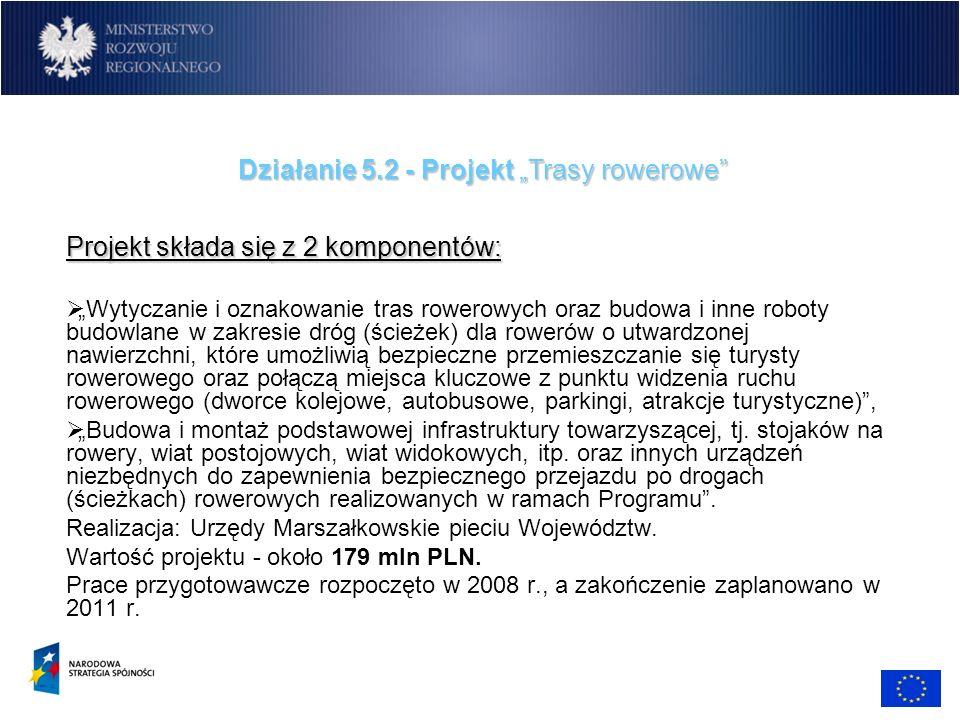 """Działanie 5.2 - Projekt """"Trasy rowerowe"""