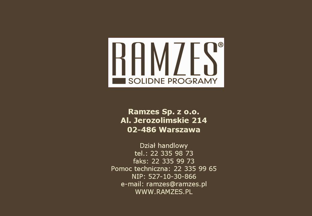 Ramzes Sp. z o.o. Al.