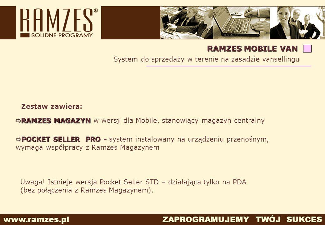RAMZES MOBILE VAN System do sprzedaży w terenie na zasadzie vansellingu. Zestaw zawiera: