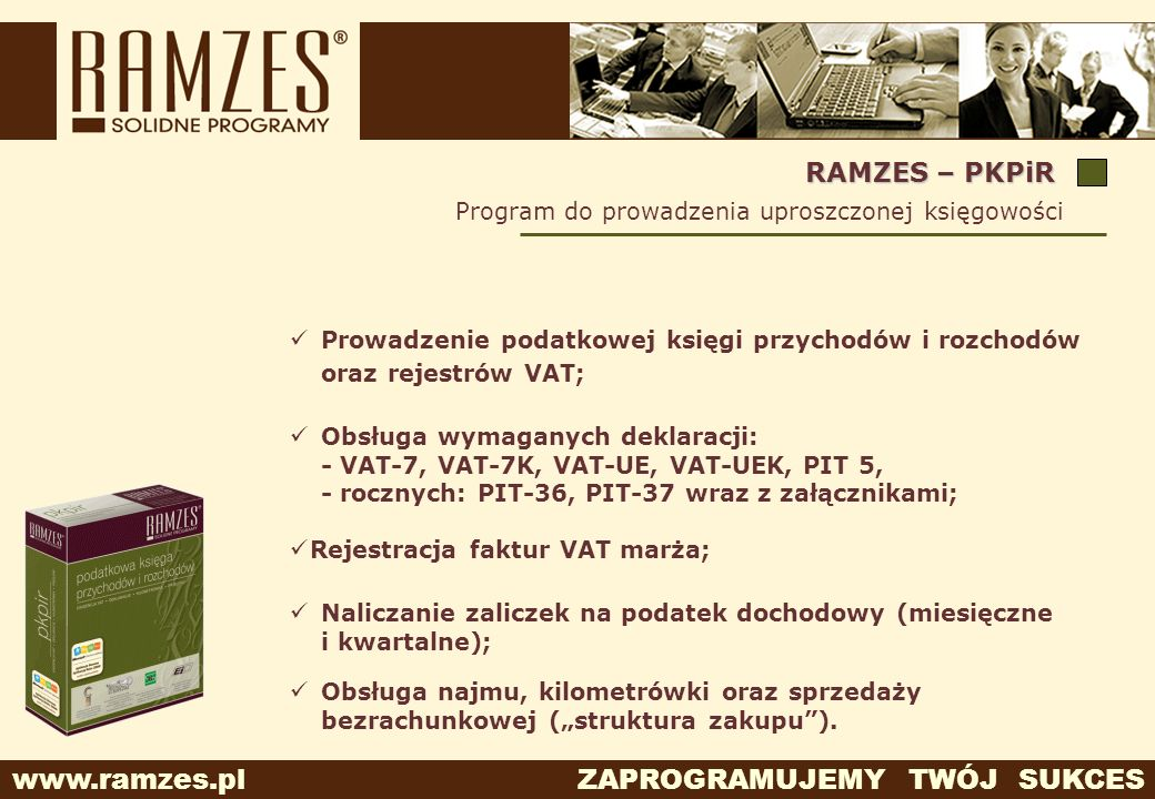 RAMZES – PKPiR Program do prowadzenia uproszczonej księgowości