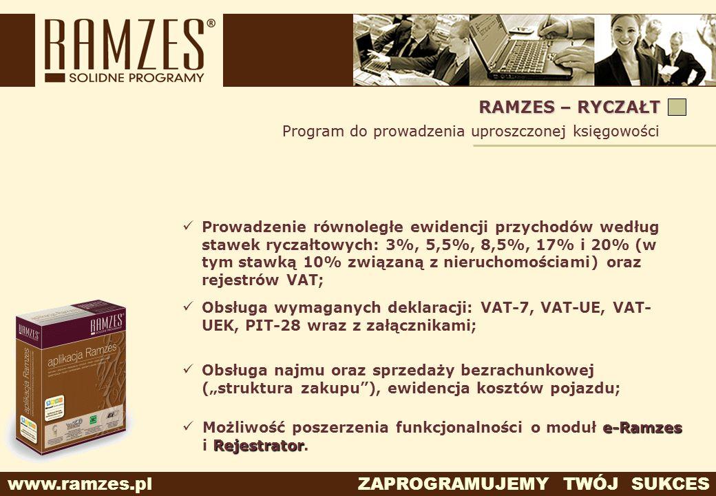 RAMZES – RYCZAŁT Program do prowadzenia uproszczonej księgowości