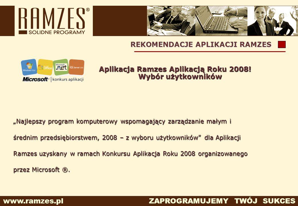 Aplikacja Ramzes Aplikacją Roku 2008! Wybór użytkowników