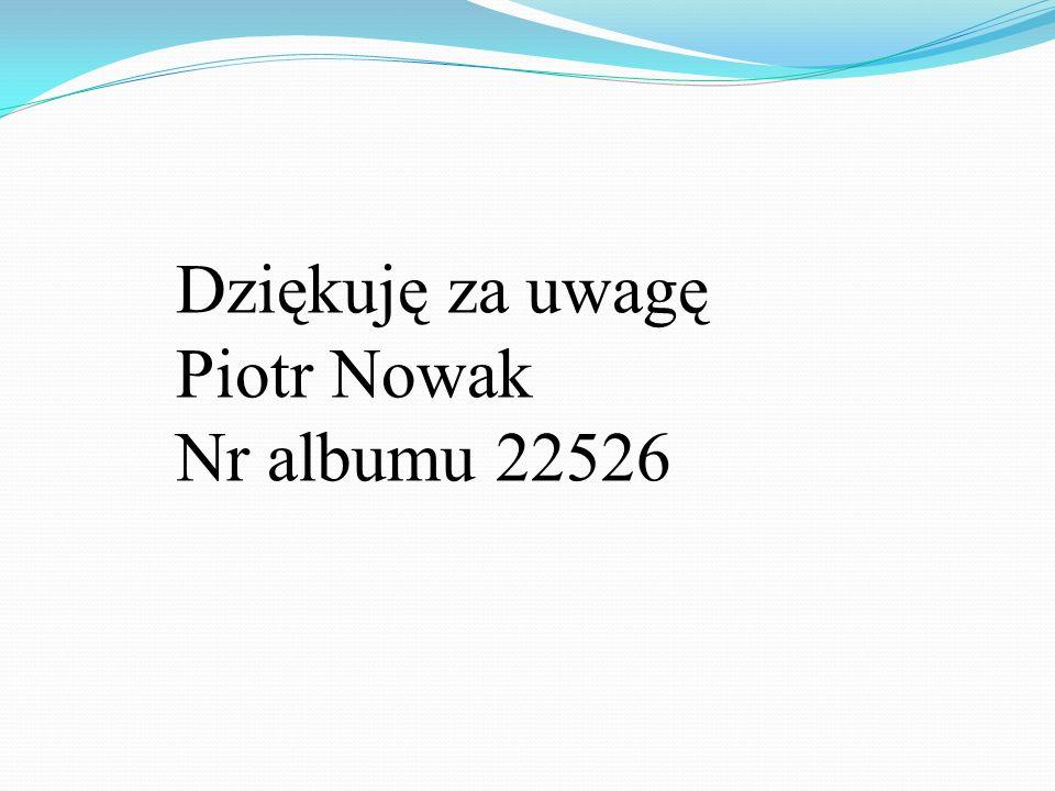 Dziękuję za uwagę Piotr Nowak Nr albumu 22526
