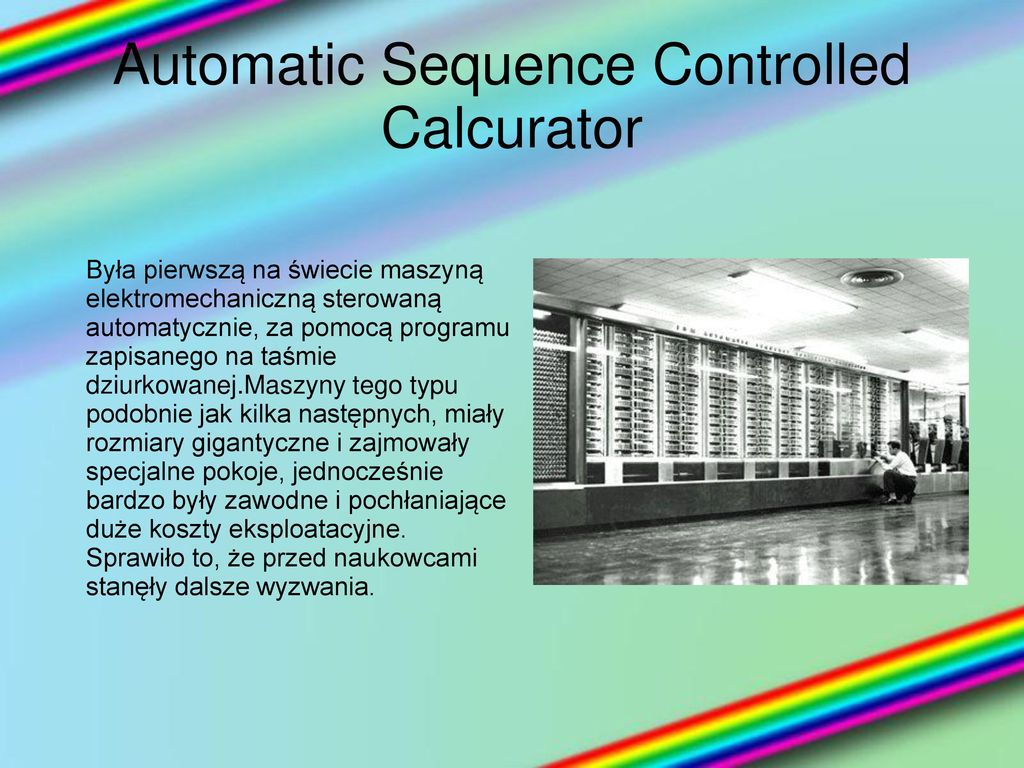 Automatic Sequence Controlled Calcurator