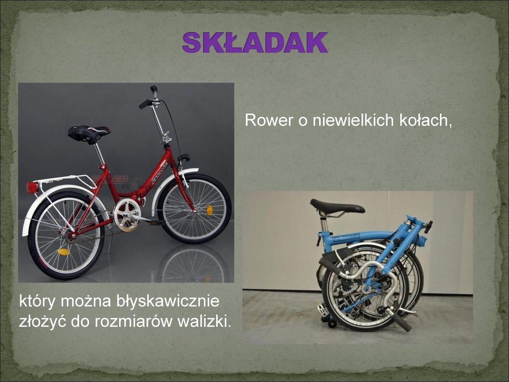 Rower o niewielkich kołach,