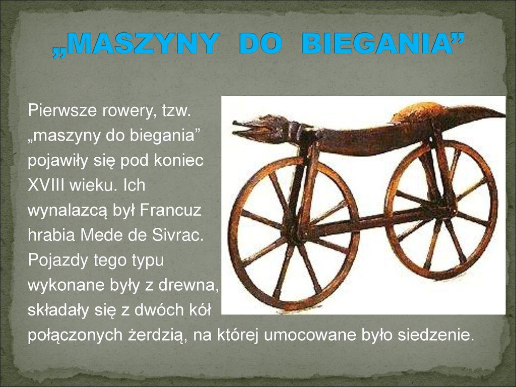 """""""MASZYNY DO BIEGANIA"""