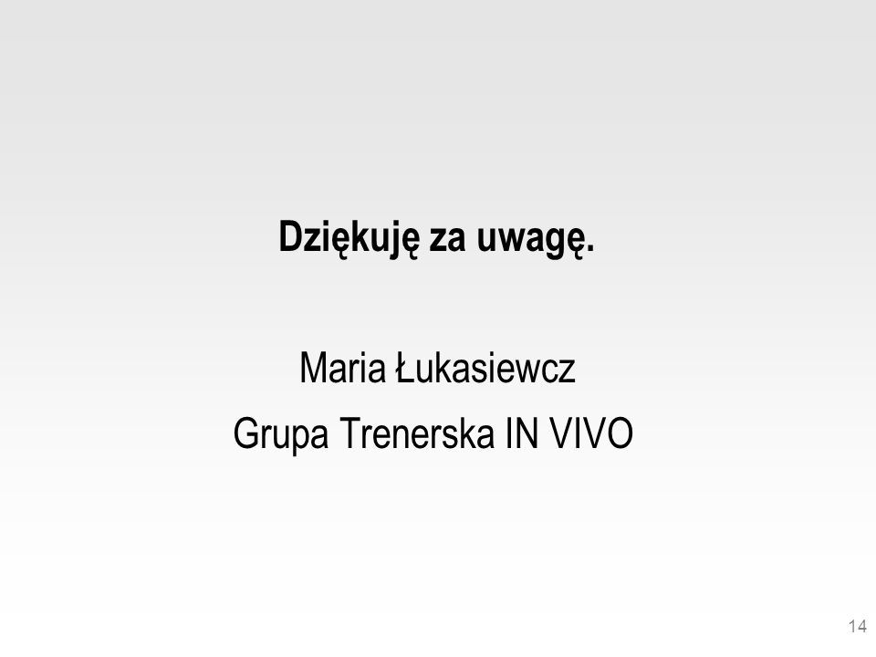 Grupa Trenerska IN VIVO