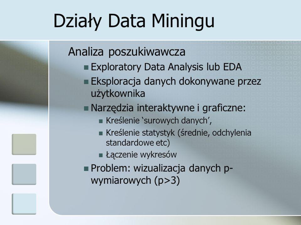 Działy Data Miningu Analiza poszukiwawcza
