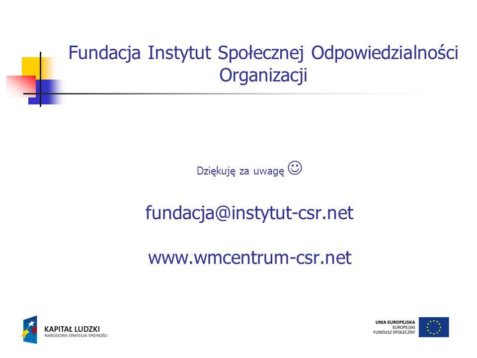 Fundacja Instytut Społecznej Odpowiedzialności Organizacji