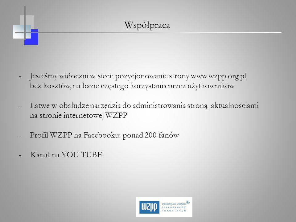 Współpraca Jesteśmy widoczni w sieci: pozycjonowanie strony www.wzpp.org.pl bez kosztów, na bazie częstego korzystania przez użytkowników.