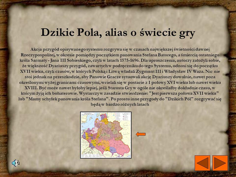 Dzikie Pola, alias o świecie gry