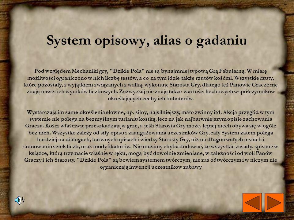 System opisowy, alias o gadaniu