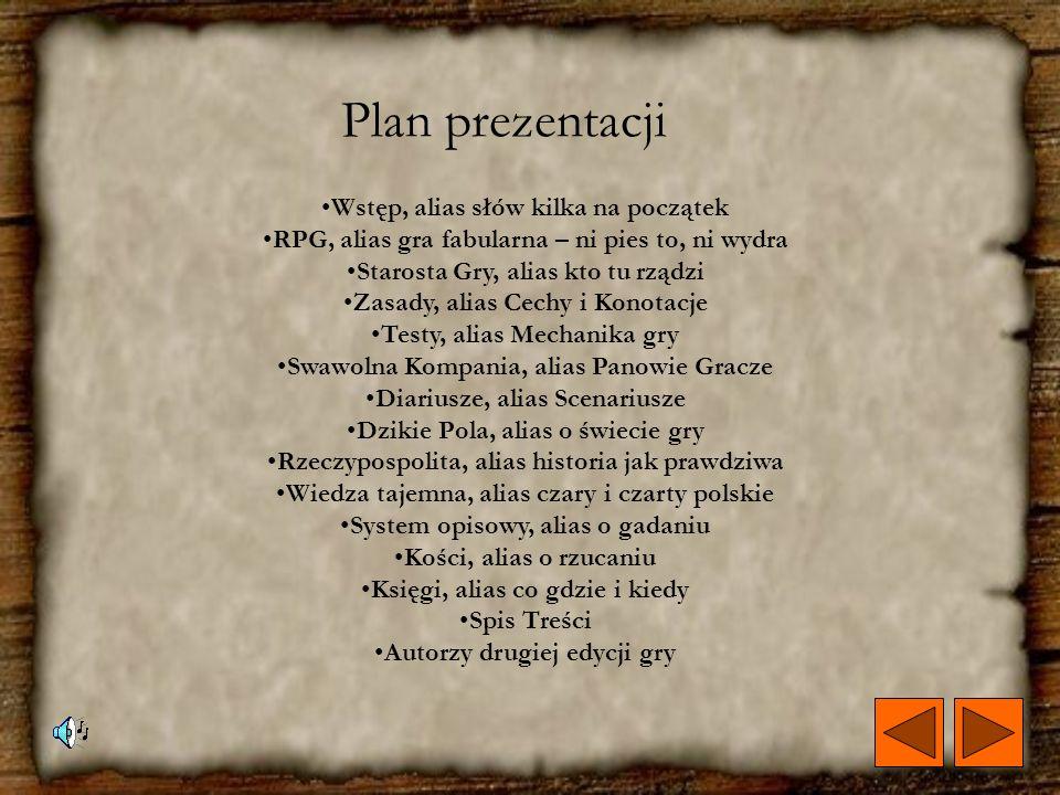 Plan prezentacji Wstęp, alias słów kilka na początek