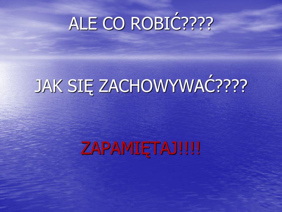 ALE CO ROBIĆ JAK SIĘ ZACHOWYWAĆ ZAPAMIĘTAJ!!!!