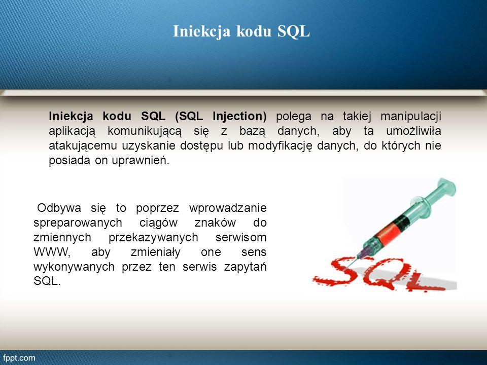 Iniekcja kodu SQL