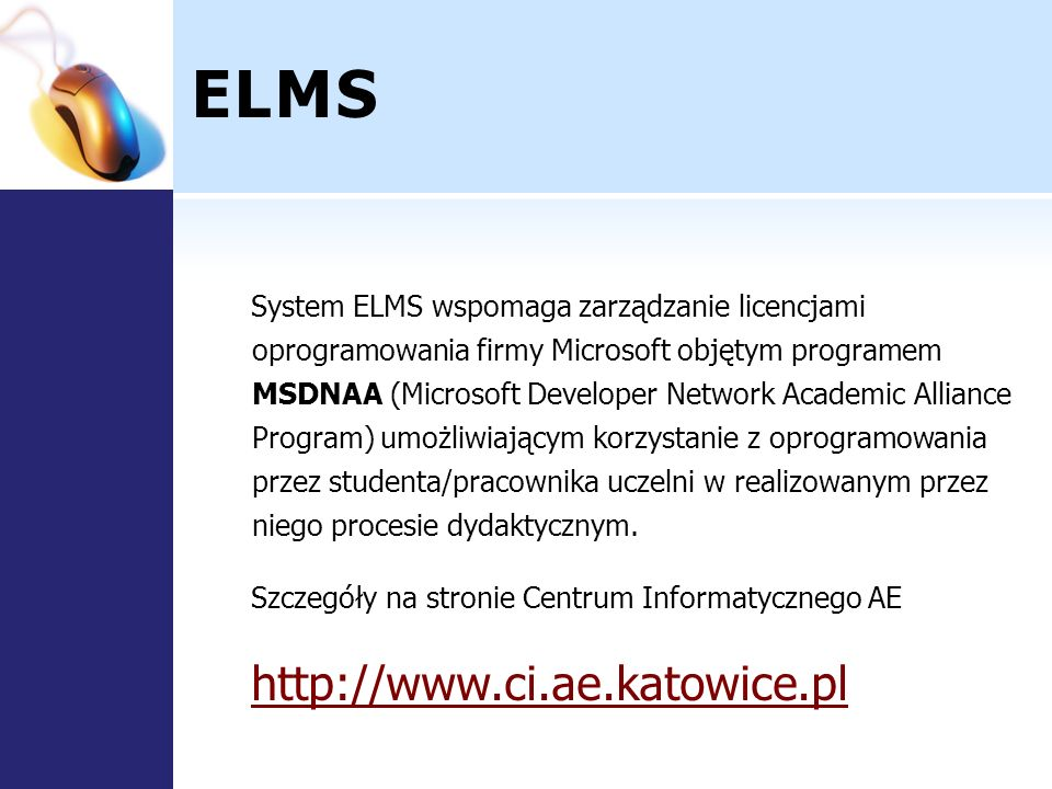 ELMS http://www.ci.ae.katowice.pl
