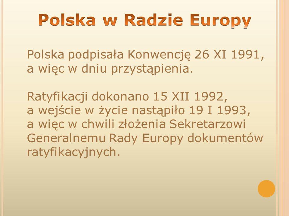 Polska w Radzie Europy