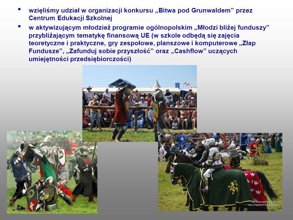 """wzięliśmy udział w organizacji konkursu """"Bitwa pod Grunwaldem przez Centrum Edukacji Szkolnej"""