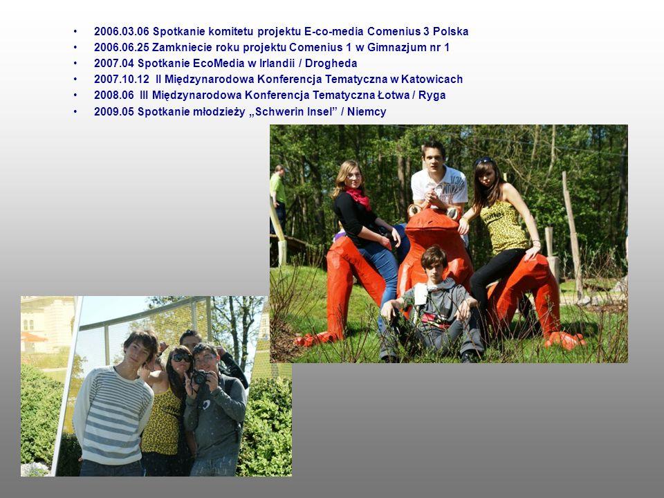 2006.03.06 Spotkanie komitetu projektu E-co-media Comenius 3 Polska