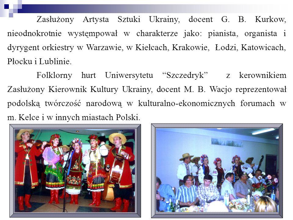 Zasłużony Artysta Sztuki Ukrainy, docent G. B