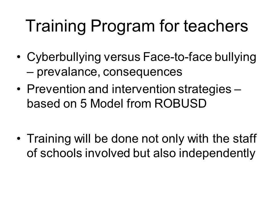Training Program for teachers