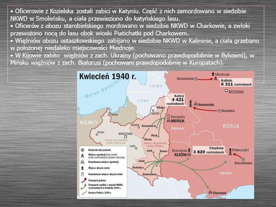 Oficerowie z Kozielska zostali zabici w Katyniu