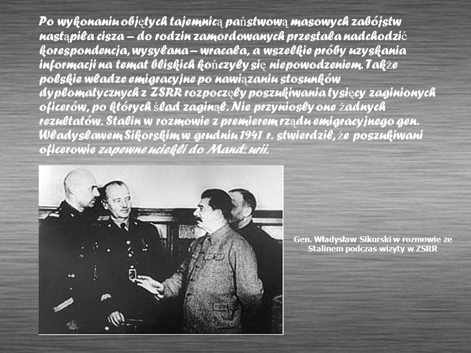 Gen. Władysław Sikorski w rozmowie ze Stalinem podczas wizyty w ZSRR