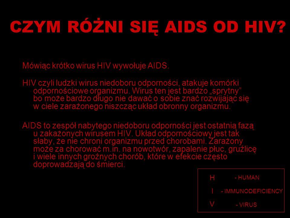 CZYM RÓŻNI SIĘ AIDS OD HIV