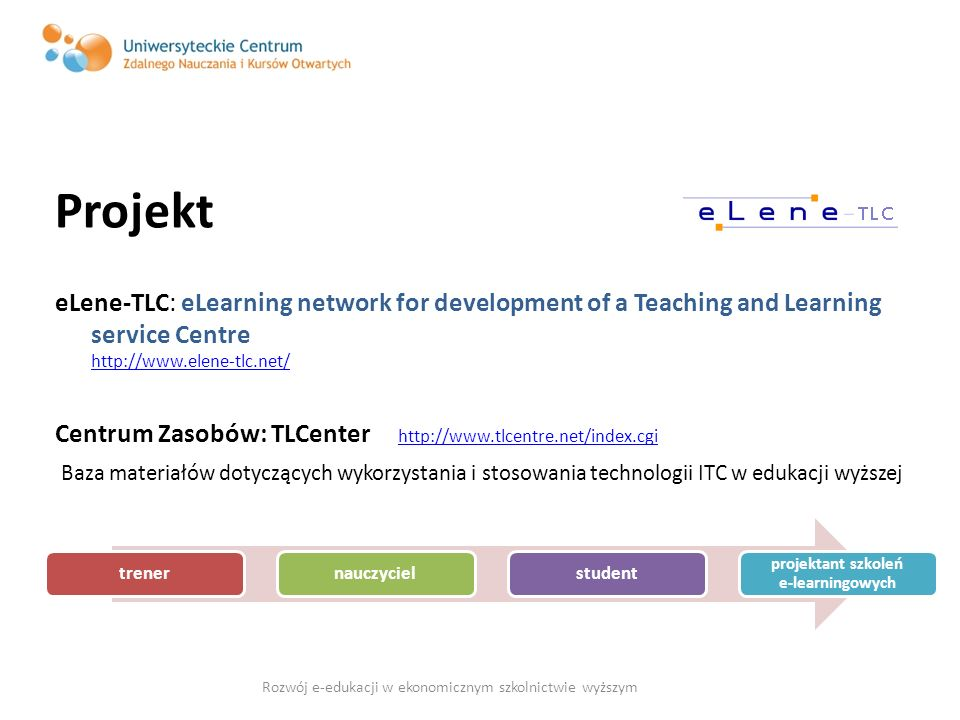 projektant szkoleń e-learningowych