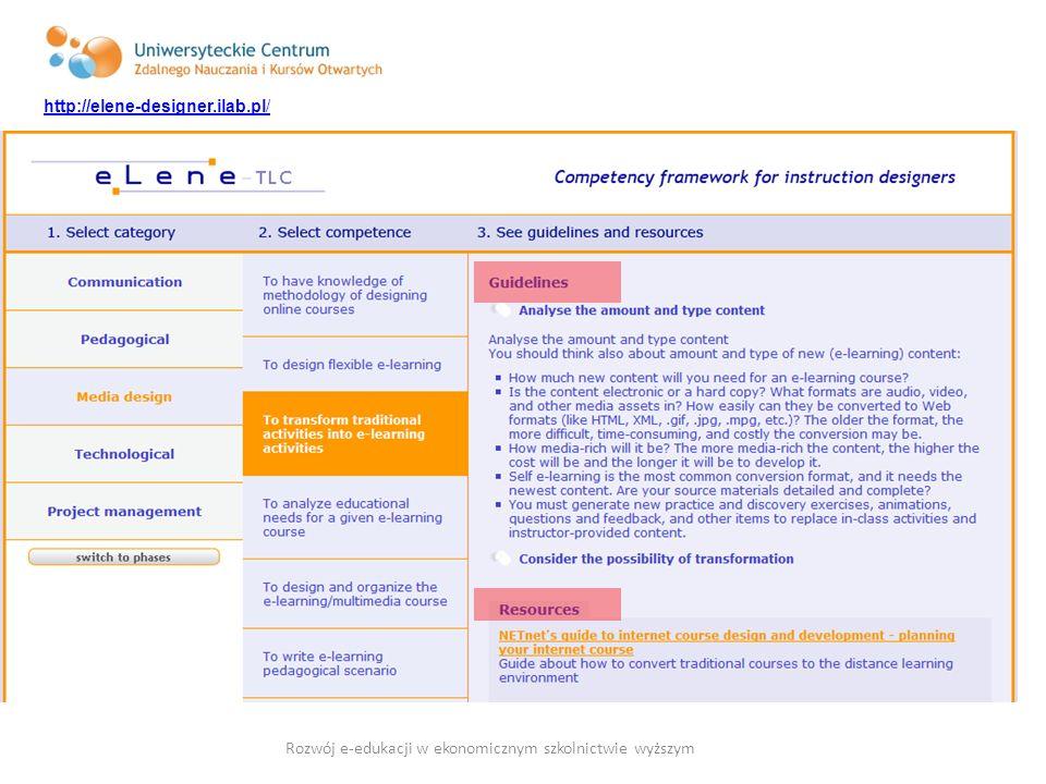 Rozwój e-edukacji w ekonomicznym szkolnictwie wyższym