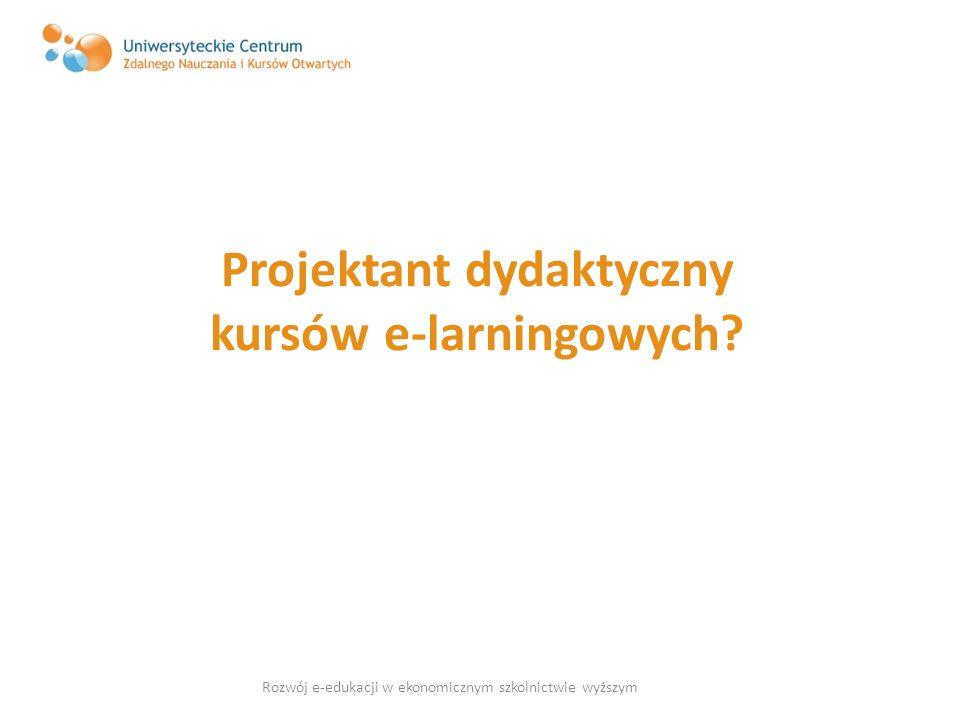 Projektant dydaktyczny kursów e-larningowych