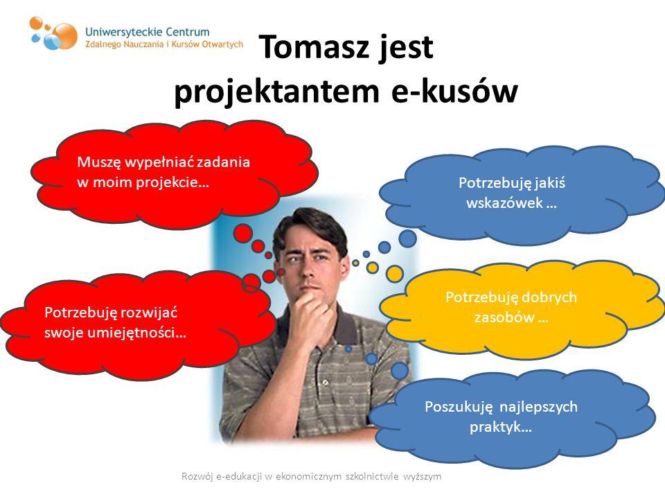 Tomasz jest projektantem e-kusów