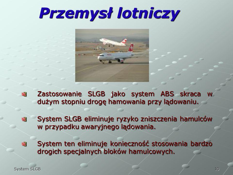 22/03/2017Przemysł lotniczy. Zastosowanie SLGB jako system ABS skraca w dużym stopniu drogę hamowania przy lądowaniu.