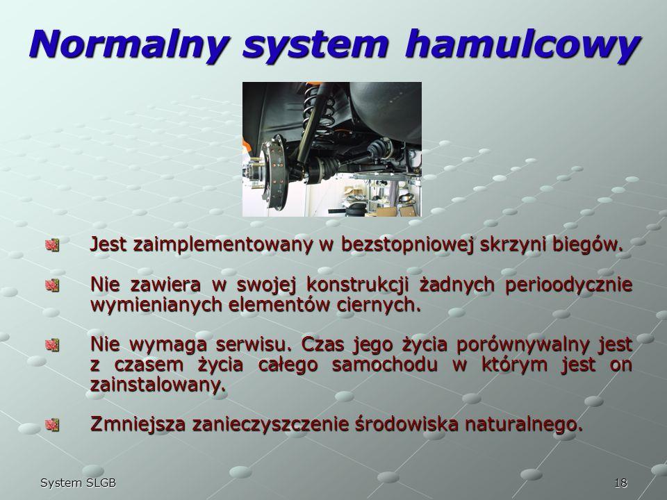 Normalny system hamulcowy