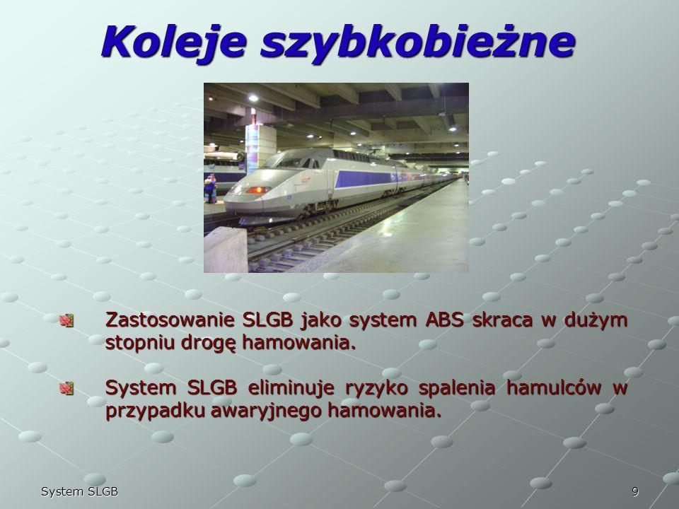 22/03/2017 Koleje szybkobieżne. Zastosowanie SLGB jako system ABS skraca w dużym stopniu drogę hamowania.