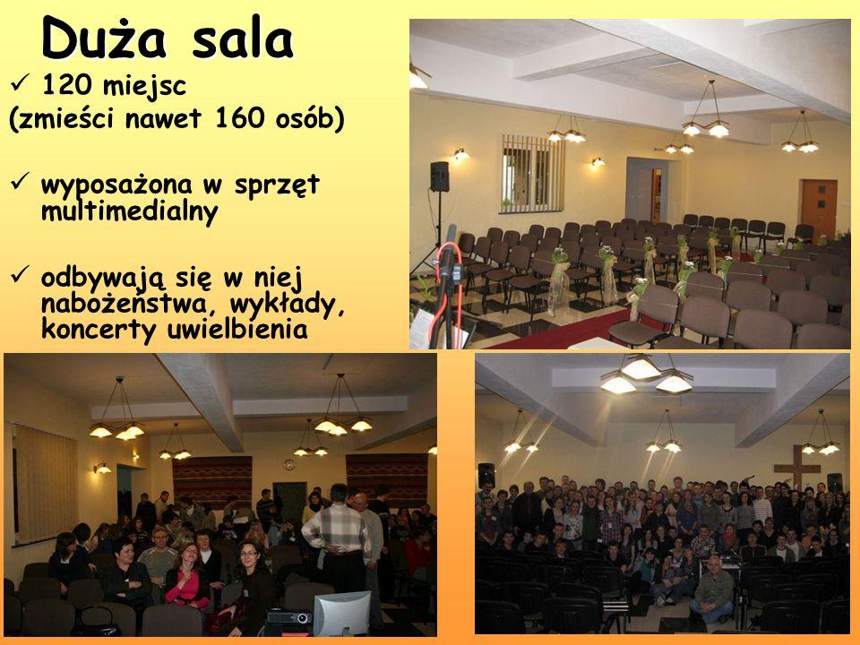 Duża sala 120 miejsc (zmieści nawet 160 osób)