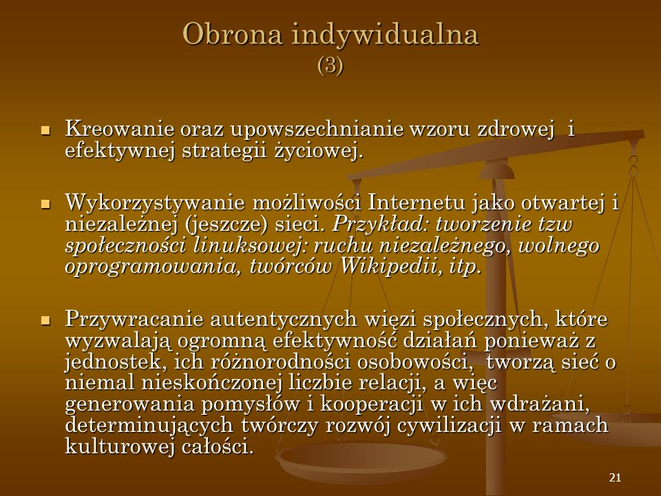 Obrona indywidualna (3)