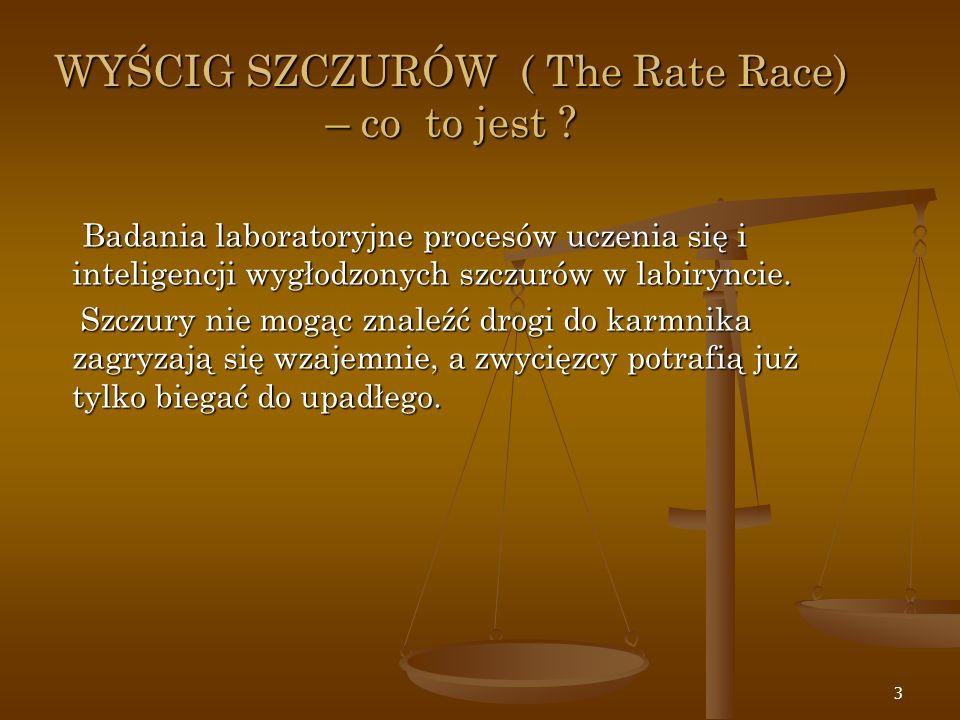 WYŚCIG SZCZURÓW ( The Rate Race) – co to jest