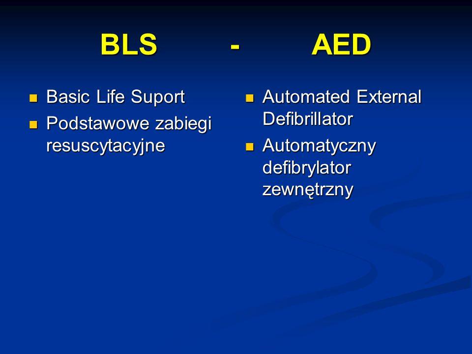 BLS - AED Basic Life Suport Podstawowe zabiegi resuscytacyjne