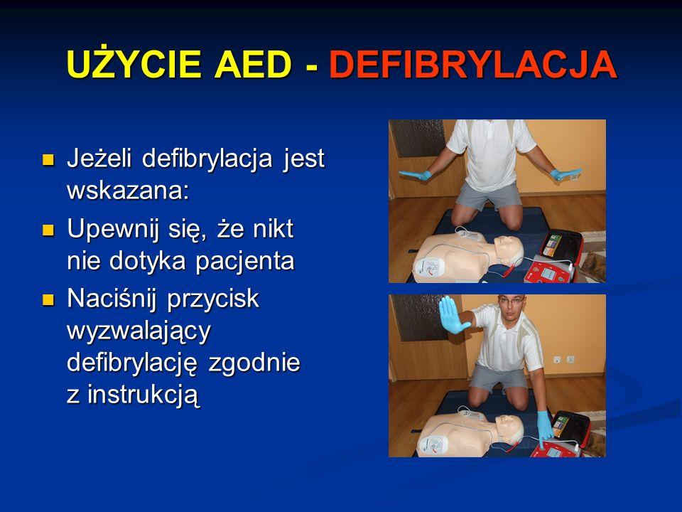 UŻYCIE AED - DEFIBRYLACJA