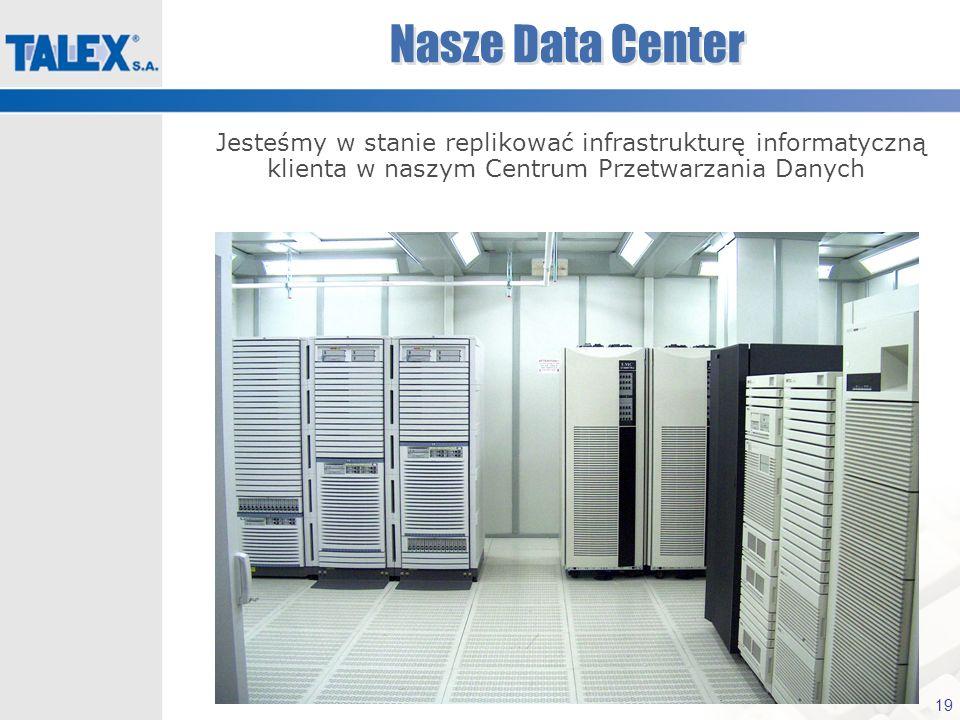 Nasze Data CenterJesteśmy w stanie replikować infrastrukturę informatyczną klienta w naszym Centrum Przetwarzania Danych.