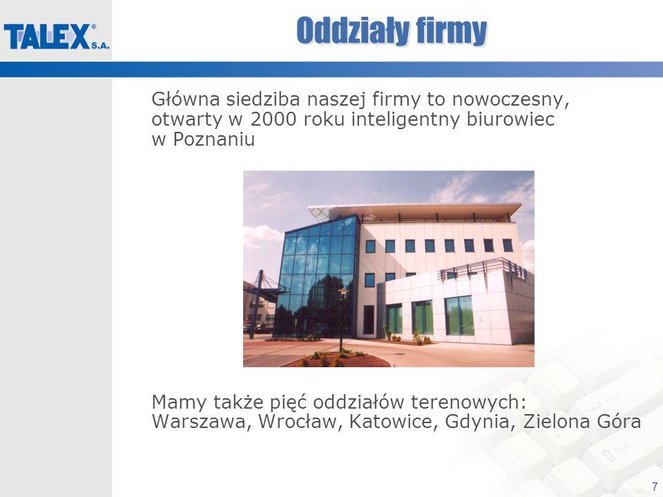 Oddziały firmyGłówna siedziba naszej firmy to nowoczesny, otwarty w 2000 roku inteligentny biurowiec w Poznaniu.