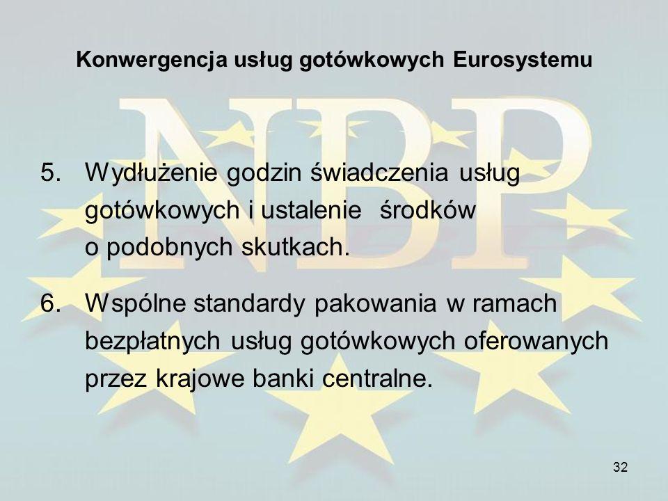 Konwergencja usług gotówkowych Eurosystemu