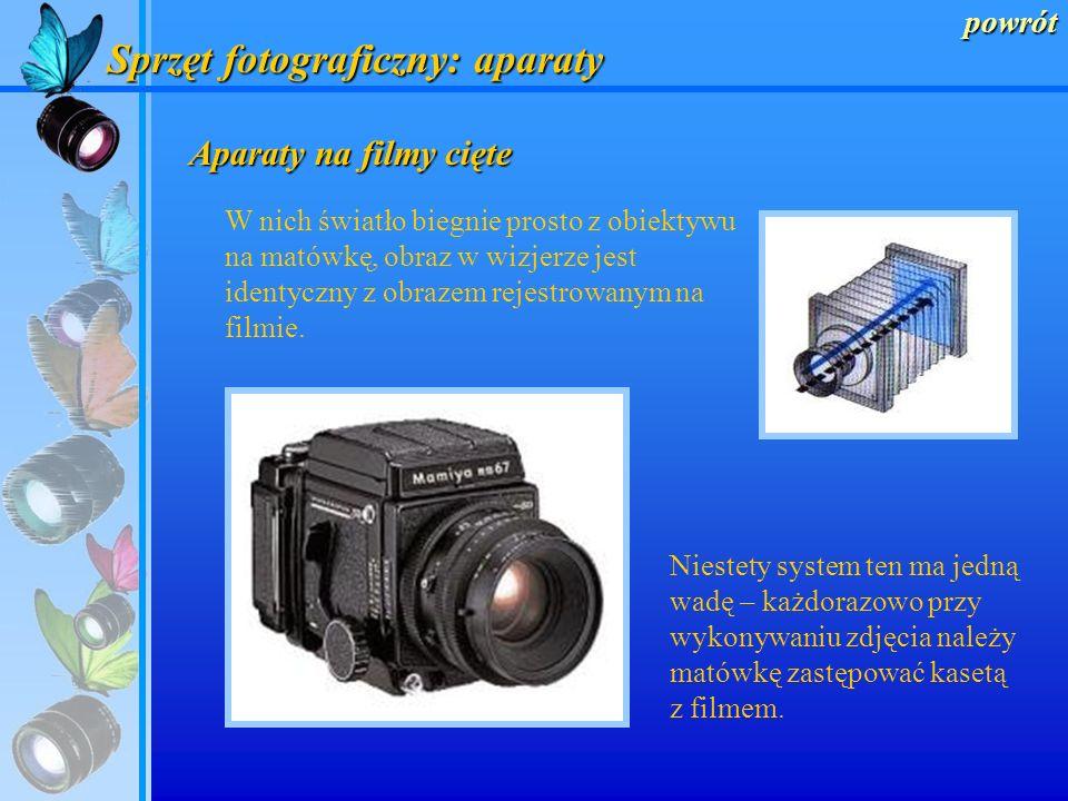 Sprzęt fotograficzny: aparaty