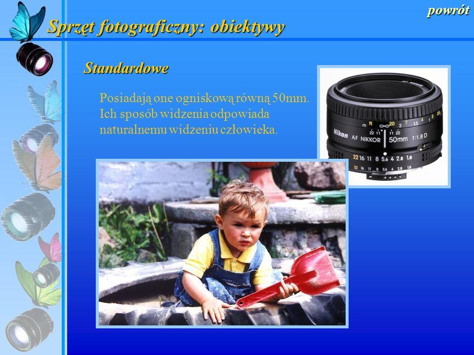 Sprzęt fotograficzny: obiektywy