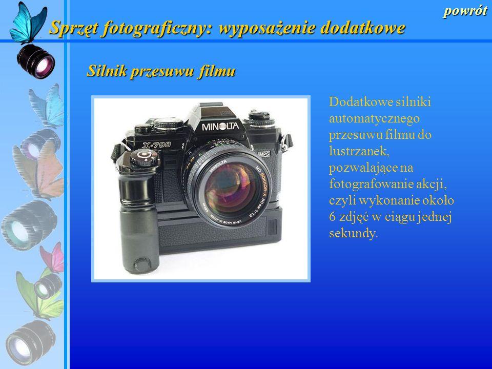 Sprzęt fotograficzny: wyposażenie dodatkowe