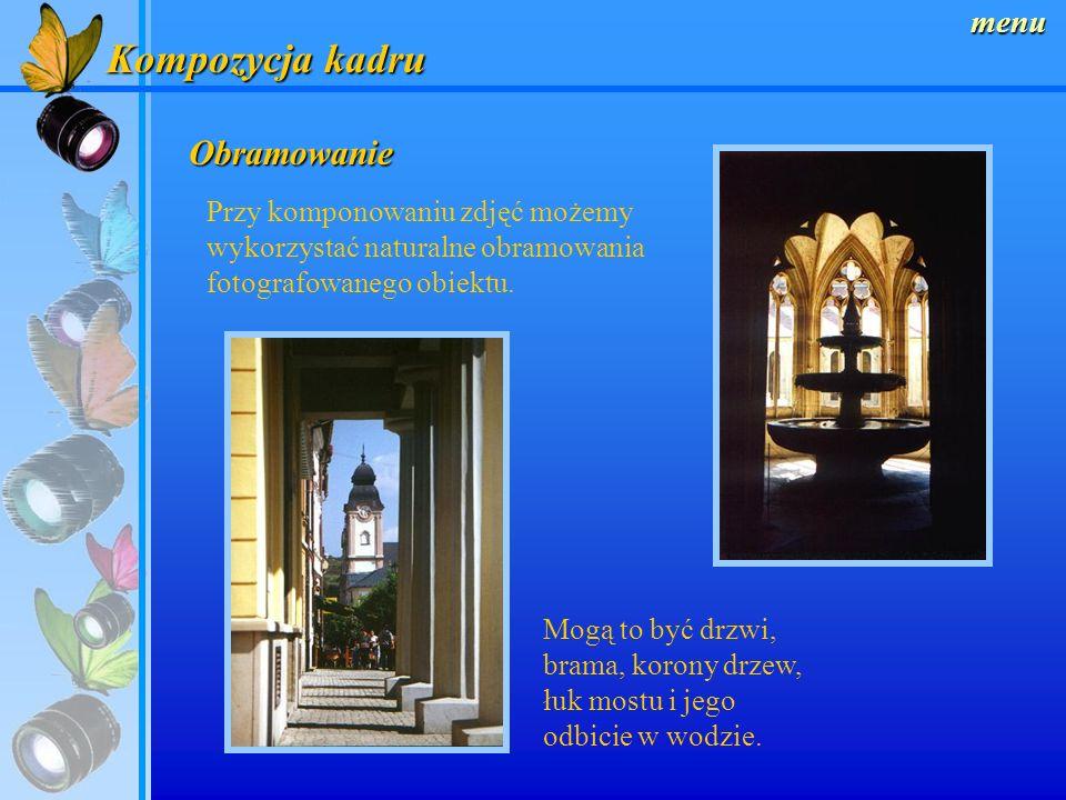 Kompozycja kadru Obramowanie menu