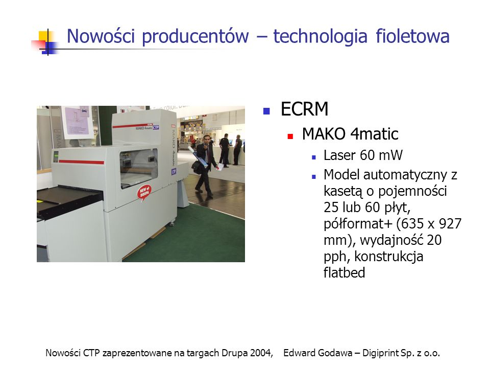 Nowości producentów – technologia fioletowa